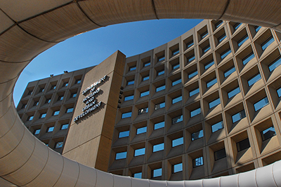 Image shows the Department of Housing and Urban Development headquarters in Washington, DC.