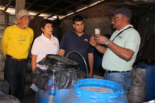 Carlos Padilla leads a training session on organic fertilizers.