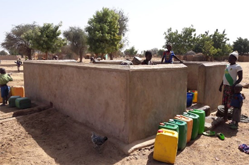 A borehole is repaired in Bombonyenga Village, thanks to the local water association.