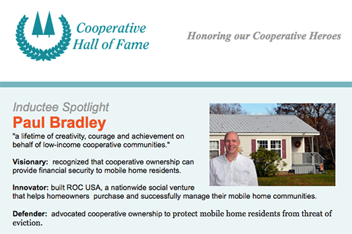 Paul Bradley will receive the co-op community's highest honor on May 2, 2018, when he is inducted to the Cooperative Hall of Fame.