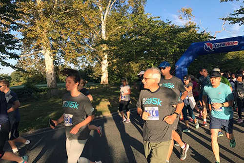 CDF Board Chair Rich Larochelle, center, participates in the foundation's 2017 Co-op 5K fundraiser. You can help support the foundation this #GivingTuesday! [photo courtesy CDF]