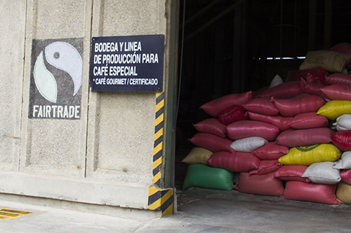 Coffee sourced from co-ops in Guatemala has Fairtrade certification through an association of co-ops, bringing the premiums back to community members.