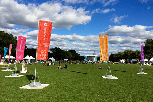 With the U.S. Capitol in the background, the National Mall was an ideal place to raise awareness of cooperative impact at this year's first-ever Co-op Festival.