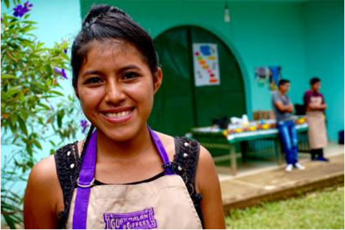 Angelita Pax Cardona is a volunteer firefighter, midwife and coffee cultivator in Guatemala. [photo courtesy America Magazine]