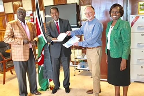 NCBA CLUSA signs an MOU with Kenya's Ministry of Industry, Trade and Cooperatives.