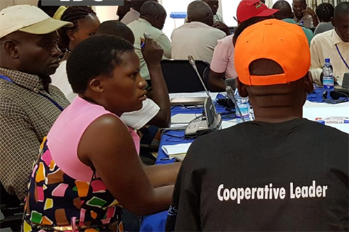 U.S. government funding includes funding for cooperative development. Here, cooperative managers attend a training in Malawi.