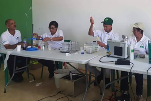 More than 120 milk samples were tested at a SAFE milk analysis lab in San Juan province.